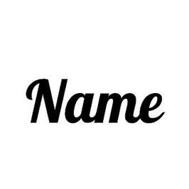 Bügelbild Name