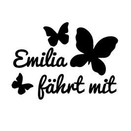 Schmetterlinge mit Wunschnamen