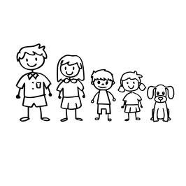 Strichmännchenfamilie individuell zusammenstellbar *Preis pro Figur*