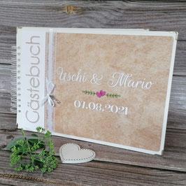 Hochzeitsalbum/Gästebuch mit individuell angepassten Ausfüllseiten