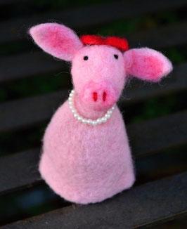 Filzeierwärmer Schweinchen rosa