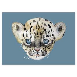 Postkarte Leopard Günter - passend zum Bambusgeschirr