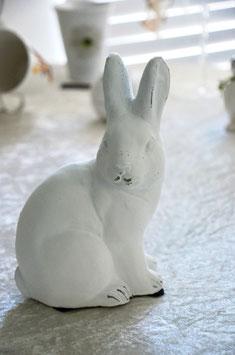 Osterhase Fritzi Terracotta weiß klein