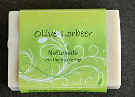 Olive-Lorbeer Seife handgerührt aus Karlshuld  100 g-Stück
