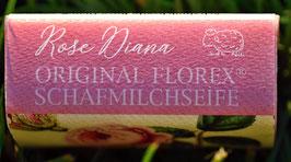 Schafmilchseife 100 g-Stück Rose Diana (Pfingstrose)