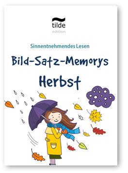 Leseverständnis trainieren mit Bild-Satz-Memorys: Herbst