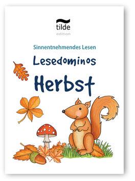 Herbst: Lesedominos für die Bild-Satz-Zuordnung