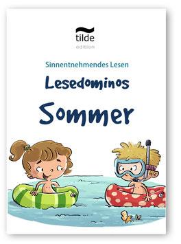 Leseverständnis trainieren mit Bild-Satz-Lesedominos Sommer