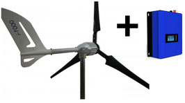 Hauswindanlage + Windwechselrichter zur Hausnetzeinspeisung