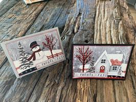 genähte Weihnachtskarte