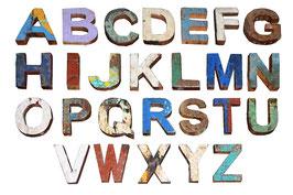 Bootsholzbuchstaben Story