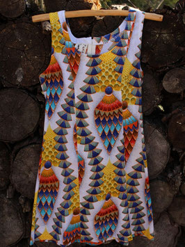 Robe Chasuble - Wax multicolore - Pièce Unique