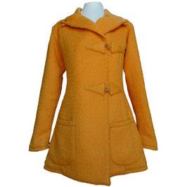 VENDUE. Redingote Orange Pièce Unique. Manteau d'hiver