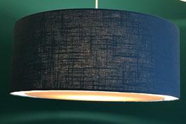Lampenschirm flat Leinen dunkelblau