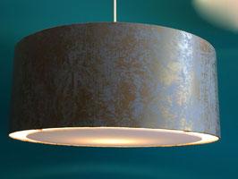 Lampenschirm flat T45 grau/gold