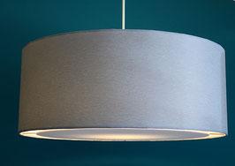 Lampenschirm flat silber-hellgrau