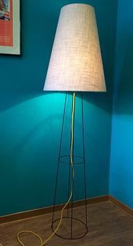 Stehlampe big clone Leinen hellgrau