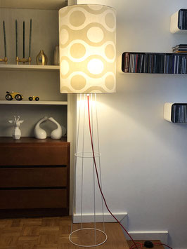 Stehlampe big clone Sixties white