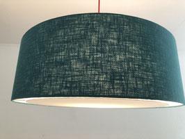Lampenschirm flat Leinen jade