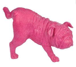"""Hundefigur """"pissed off"""" pink"""