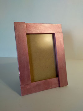 Portafoto metalizado rosa