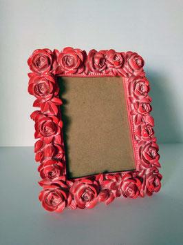 Portarretrato rosas rojas