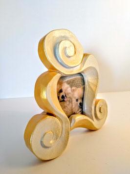 Portarretrato espirales pequeño dorado