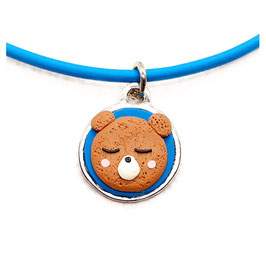 Collar Azul y Rosa con Dije de Oso para Niños Ref: CIN218