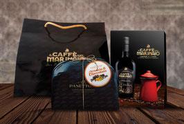 Confezione Regalo : Caffè del Marinaio + Caffettiera + Panettone Arancia e Cioccolato  + SHOPPER