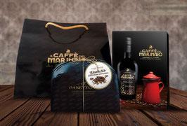Confezione Regalo : Caffè del Marinaio + Caffettiera + Panettone Dark 50 + SHOPPER