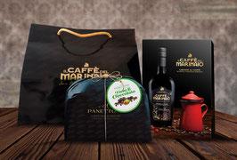 Confezione Regalo : Caffè del Marinaio + Caffettiera + Panettone Fichi e Cioccolato  + SHOPPER