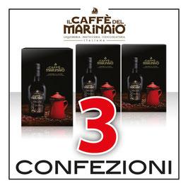 Confezione Regalo : Caffè del Marinaio + Caffettiera ( 3 Pezzi )
