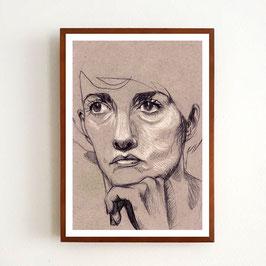 Art Print JEANNE von Sonja Rohleder