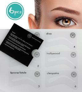 Augenbrauen Schablone für die perfekt gezupften und gleichmäßigen Augenbrauen