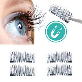 Magnetische falsche Wimpern für einen natürlichen Augenaufschlag ohne Kleber (Set mit 1 Paar/4 Stück)