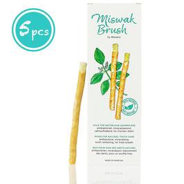 Miswak Brush - Zahnputzholz - traditionell arabisches Zahnputzholz, Holzzahnbürste, für natürlich weiße Zähne, 5 Stück