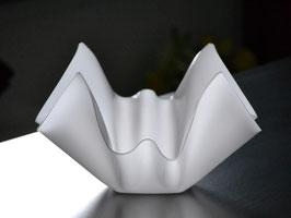 Acrylglas Schale mittel rund in Satin (Milchglas)