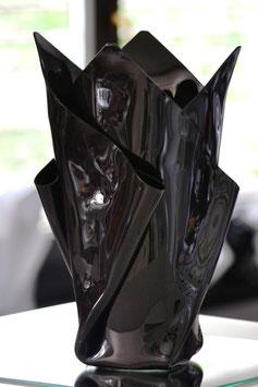 Acrylglas Vase groß in Porzellan schwarz