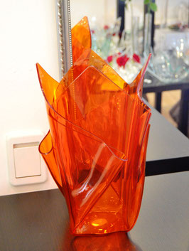 Acrylglas Vase groß  in orange