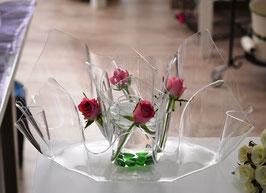 Acrylglas Schalen & Vasen 2-Teile Set-Mix oval - klar