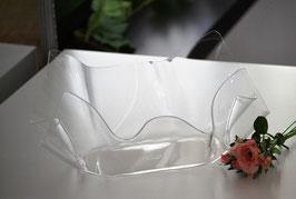 Acrylglas Schale mittel oval - klar