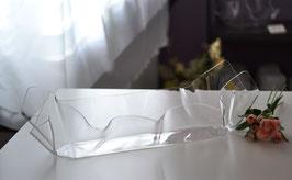 Acrylglas Schale mittel lang - klar