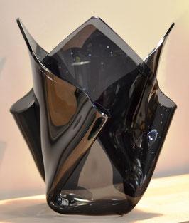 Acrylglas Vase mittel in grau