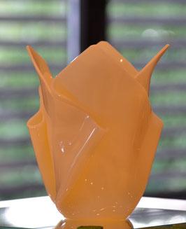 Acrylglas Vase mittel in creme