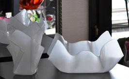 Schalen & Vasen 2-Teile Set-02 mittel oval Satin (Milchglas)