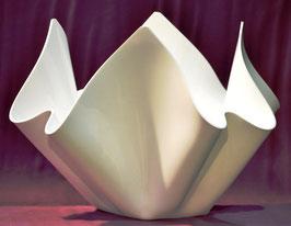 Acrylglas Schale groß rund in Porzellan weiß