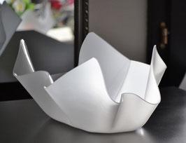 Acrylglas Schale mittel oval in Satin (Milchglas)