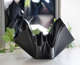 Acrylglas Schale mittel rund in schwarz