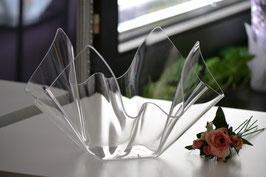 Acrylglas Schale mittel rund - klar