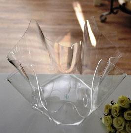 Acrylglas Schale groß oval - klar